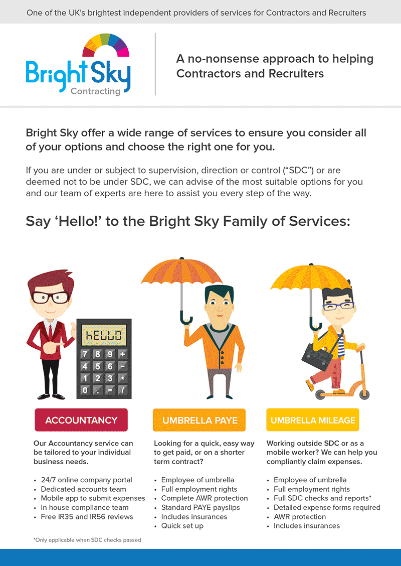 bright sky services flyer